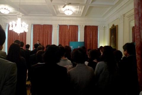 サンダーソン英国大使館祝賀会1
