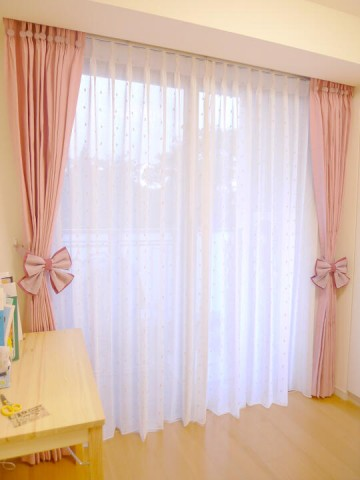Ribbon Tieback Curtain