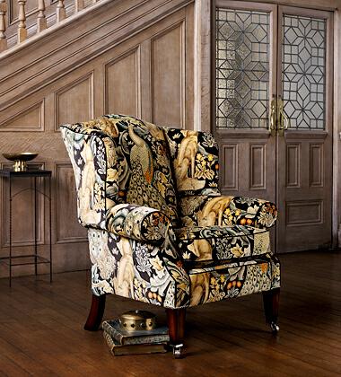 ウィリアム・モリス Forestの生地で張込んだ椅子