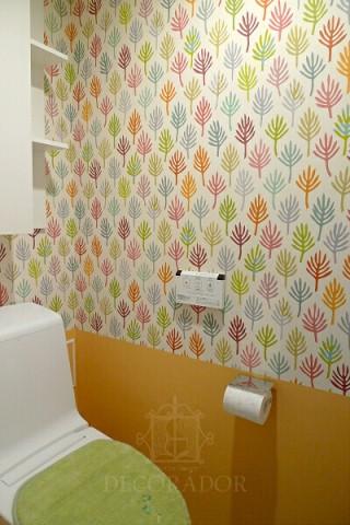 お手洗いの壁紙は明るく楽しく!
