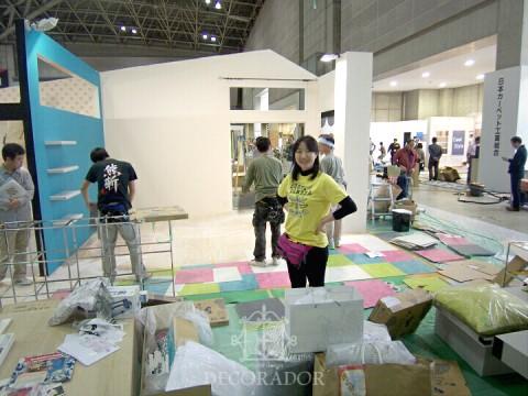 JAPANTEX2013 設営風景の画像