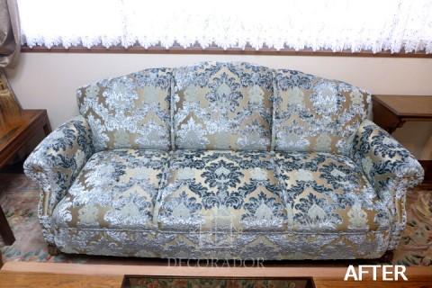 張替え後のソファの画像