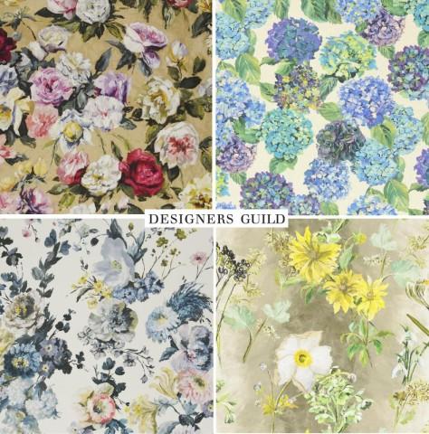 デザイナーズギルドの花柄プリント