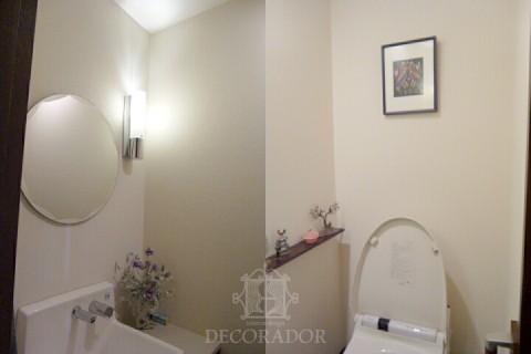 壁紙施工前のトイレの画像