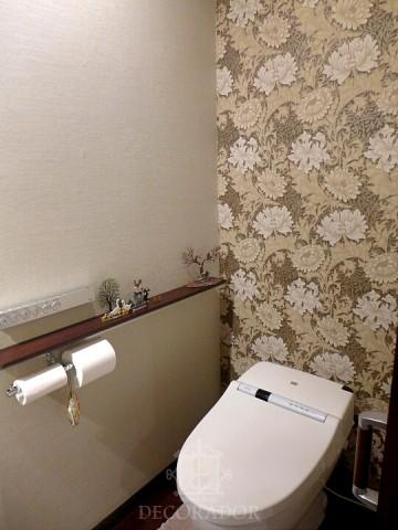 トイレにはウィリアム・モリスの壁紙の画像