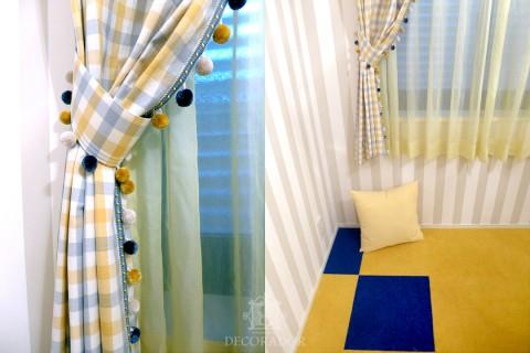 カーテンとカーペット