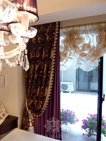 飾りドレープカーテン