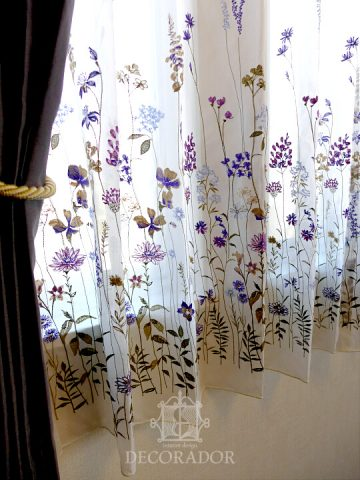 flower design sheer