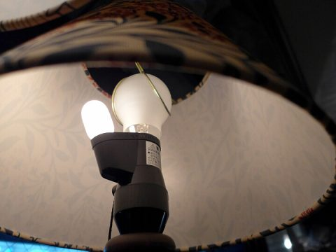 ウィリアム・モリスのランプの豆電球