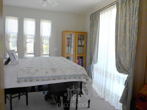 piano room curtain