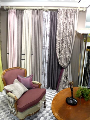 drapary curtain display