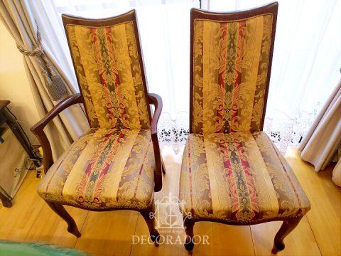 クラシカルな椅子の張替え 張替え前