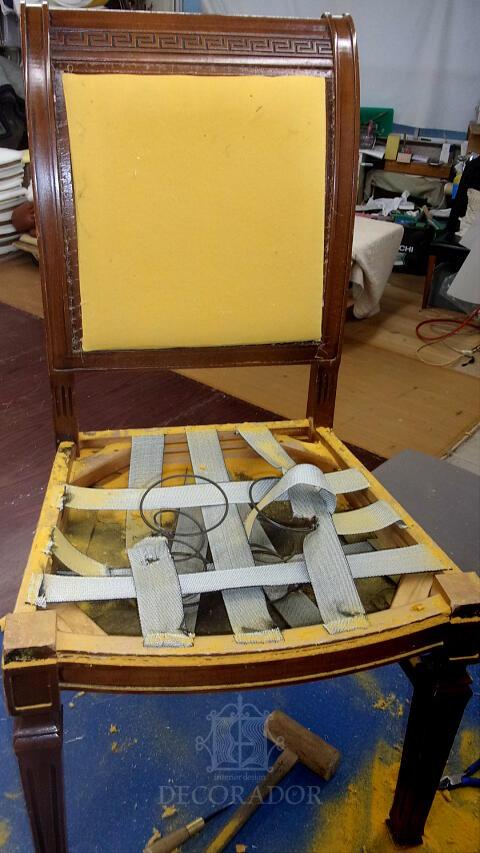 スプリング椅子の補修