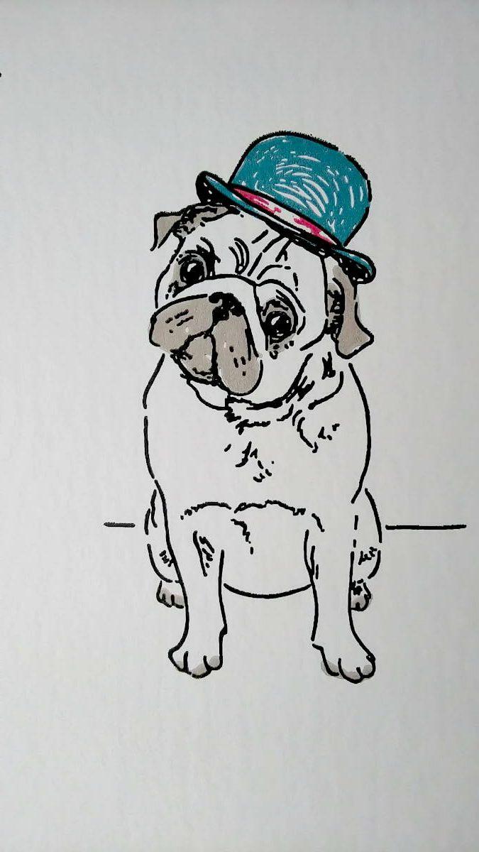 犬柄の壁紙